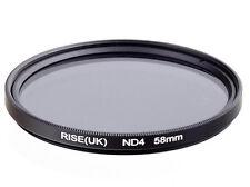 Filtre à densité neutre ND4 58mm Canon Nikon Pentax Sony