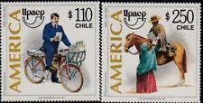 upaep Chile 1428/29 1997 Postman aktuelle und alte MNH