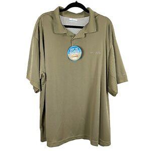 NWT Columbia Men's XXL Perfect Cast Fishing Polo Shirt Omni Shade UPF 30 PFG