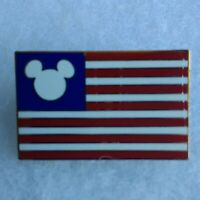 American Flag with Mickey Head Authentic ©Disney Patriotic Pin