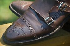 TO BOOT NEW YORK DOUBLE MONK STRAP WING TIP in BROWN 10