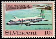 """ST. VINCENT 297 (SG303) - Air Services """"Hawker Siddeley 748 Plane"""" (pa83800)"""