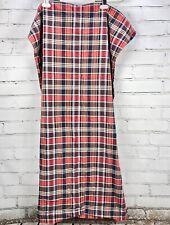 Vintage Ralph Lauren King Size Pillow Sham Kennebunkport Blue/Red Plaid Cotton