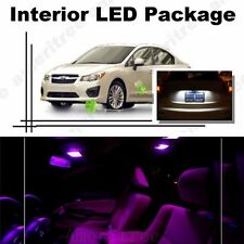 For Subaru Impreza WRX 2004-2018 Pink LED Interior Kit + White License Light LED