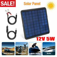 5W Watt Solar Panel 12V Battery Charger System Maintainer Marine Boat Rv Car Usa