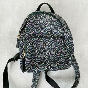 Kate Spade Taylor Party Bubbles Black Pine Forest Small Backpack Bag Mini