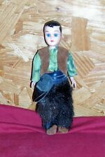 Old 7� Cowgirl Sleeping Eyes Plastic Doll Western Cowboy Vintage Action Figure