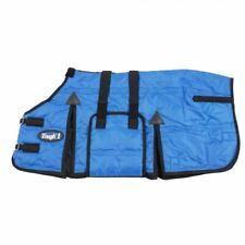 """Tough-1 Royal Blue 36"""" 600D Miniature Stable Blanket W/Belly Wrap Horse Tack"""