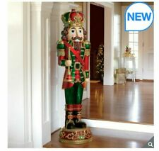 6ft (182.8 cm) Resin Indoor/Outdoor Nutcracker With 34 LED Lights And Sound