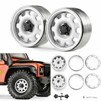 "2PCS 1,9 "" Metall Felgen Naben Set für 1/10 SCX10 TRX-4 New Defender RC Crawler"