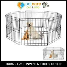 FlexiPanel Folding Dog Pet Fence Barrier Fencing Garden Expanding Gate Pen UK