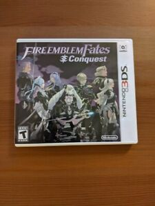 Fire Emblem Fates: Conquest (Nintendo 3DS, 2016) COMPLETE IN BOX GREAT CONDITION