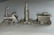New listing Vintage Mini Pewter Coke Train - Engine & Caboose, Coca-cola train car