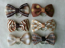 Jemlana's handmade dog,cat,pet grooming bows(set of 6)