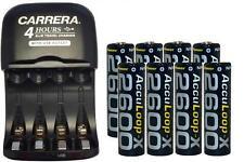 AA/AAA Smart Charger w/ USB Plug + 8-Pack AA AccuLoop-X NiMH 2600 mAh Batteries
