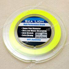 NEW Sea Lion 100% Dyneema  Spectra Braid Fishing Line 500M 50lb yellow