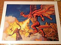 Hildebrandt Original Art Painting Breath Darigaaz dragon Magic Gathering mtg