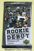 2006 Upper Deck Rookie Debut Football Card Pack NEW NFL Sports