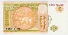 2008 Mongolia 1 Tugrik Unc Paper Money Banknotes Currency