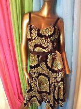 NWT Moschino Cheap Chic Beautiful Burnt Velvet Dress 40 Italy