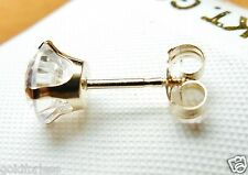 10K  SOLID YELLOW GOLD SCREW ON SCREW OFF REPLACEMENT EARRING BACKS 1PAIR 2P
