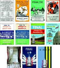 More details for manchester city fa cup final programme cover fridge magnets 70mm x 45mm