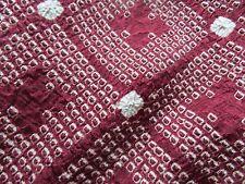 mint/vtg 20s/silk/ladies/reversible haori, jacket, burgundy/rhombus shibori M/L