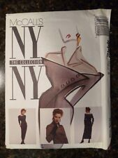 McCall's 4442 NY Collection Original 1989 Misses Dress Pattern size 8  Uncut
