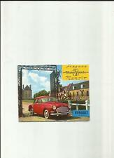 RENAULT FREGATE AND MANOIR SALES BROCHURE 1960