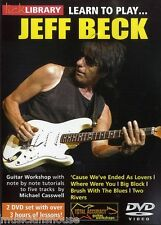 LICK LIBRARY Learn To Play JEFF BECK Big Block Two Rivers Rock Lesson GUITAR DVD