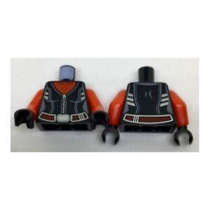 LEGO - Minifig, Torso Female w/ Red Neck, Silver Zipper & Trim w/ Dark Red Belt