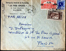 ALGERIE  1939  LETTRE AVION ALGER  ENVELOPPE     165CA43