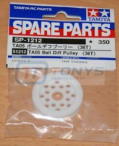 Tamiya 51212 TA05 Ball Diff Pulley (36T) (TA-05/TA05-IFS/TA05VDF/TRF415MSXX) NIP