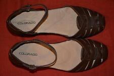 COLORADO TAN Leather Shoes/SANDALS Size 7. NEW rrp $109.99 Sturdy Heel QUALITY