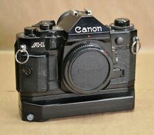 CANON A-1 35mm SLR Film Camera Japan Body + Power Winder A2 Vtg 1998