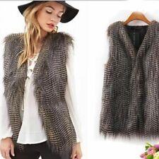 Sleeveless Vest Ladies Fur Coat Winter Fashion Clothes Casual Outdoor Slim Wear