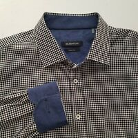 Bugatchi Mens Plaid Button Front Long Sleeve Classic Fit Casual Shirt Large P326