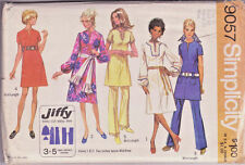"9057 SIMPLICITY Jiffy c.1970 - DRESS in 2 Lengths & PANTS - Sz 20  B 42"""