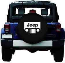 "27""-29"" JEEP Spare Wheel Tire Cover 15inch Tyre Covers Black HD Vinyl"