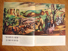 1940 Photo Article Ad The Birth of A Nation a Painting for Life by Taubes
