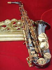 alto saxophone professional - Prestini- black  lacquer body and gold  keys