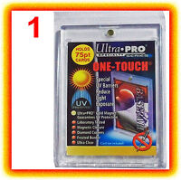 1 Ultra Pro ONE TOUCH MAGNETIC 75pt UV Card Holder Display Case Two Piece 81910