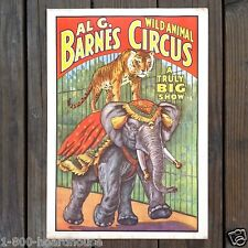 3 Diff Original 1960s Barnum & Bailey WILD ANIMALS CIRCUS WORLD MUSEUM Posters
