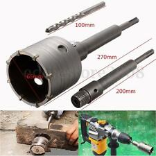 SDS Plus Shank Concrete Cement Stone 65mm Wall Hole Saw Drill Bit 200mm Set