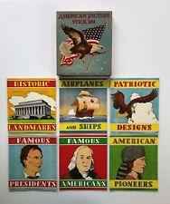 Vintage Patriotic American Picture Stick'Ems - Platt & Munk - Near Mint In Box!