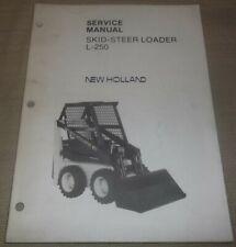 New Holland L250 Skid Steer Loader Operation Maintenance Manual Book