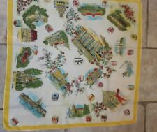 1940s Pure Silk BERLIN Travel Scarf