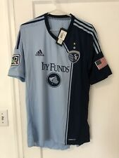 2013 2014 Sporting Kansas City Jersey SKC Soccer MLS Adidas Authentic Large