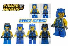Lego Power Miners Minifigures - Brains Doc Duke Engineer Rex Scar Stubble