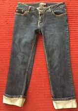 DICKIES {Size 13} Junior's Cuff Crop Capri Jeans NICE!